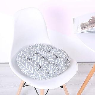Cojín redondo acolchado de algodón para silla, antideslizante, lavable a máquina