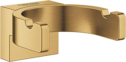 GROHE 41049GN0 Selection Double Robe Hook, Brushed Cool Sunrise