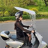 J&X Doble de Motocicleta eléctrica, Moto Universal Techo Bicicleta Sol Visera Tiendas de Tiendas de Sombra Paraguas Parabrisas de Parabrisas Cubierta de Lluvia (Color : No Rear View Mirron)