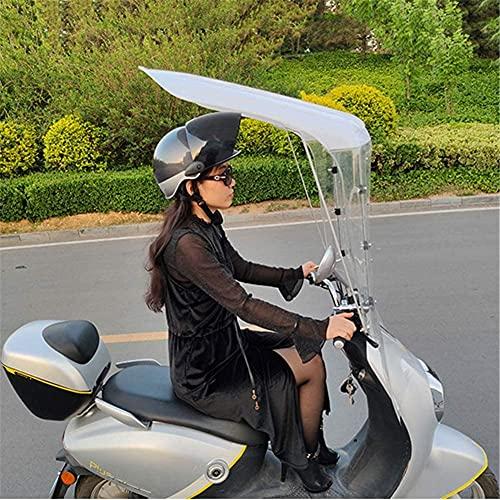 J&X Doble de Motocicleta eléctrica, Moto Universal Techo Bicicleta Sol Visera Tiendas...