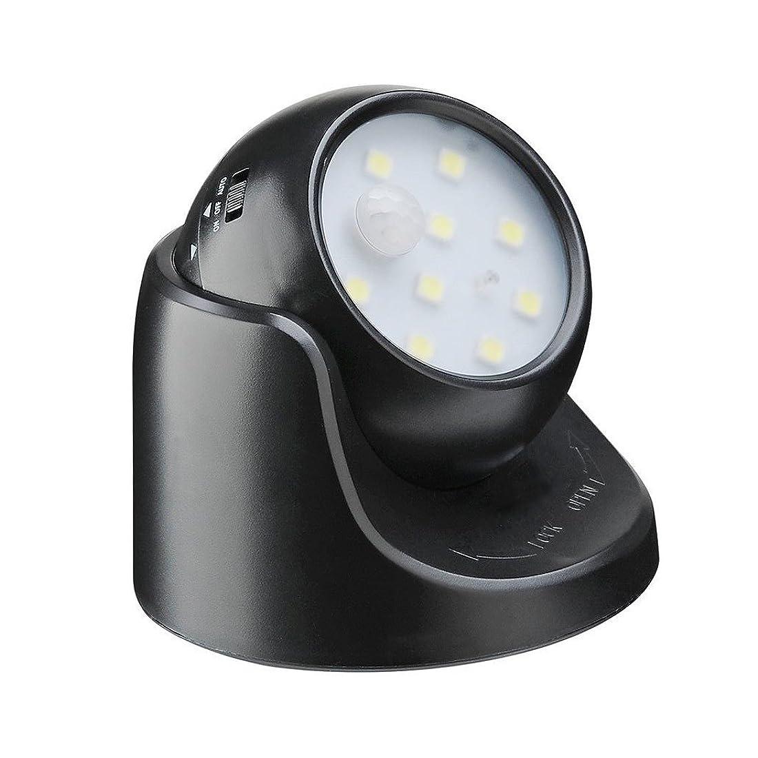 無数の警告インポートlifepower 人感センサーライト 光センサー搭載 乾電池給電 取付簡単 廊下センサーライト 常時点灯/センサー点灯2モード設置可 360度回転対応 9LED搭載 明るさ抜群
