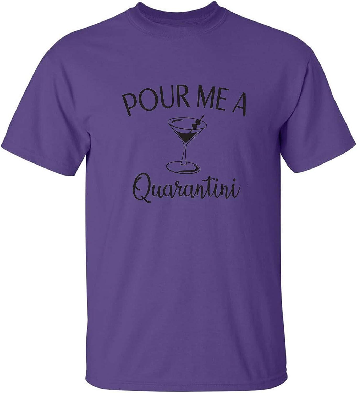 zerogravitee Pour me a Quarantini Adult Short Sleeve T-Shirt