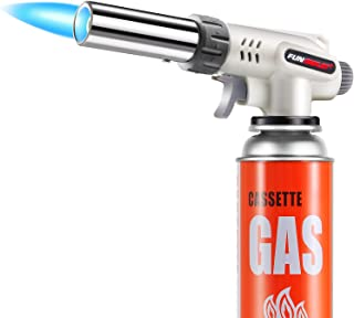 Butane Torch Kitchen Blow Lighter, Culinary Torches Head Professional Chef Cooking Adjustable Flame For Sous Vide, Creme B...