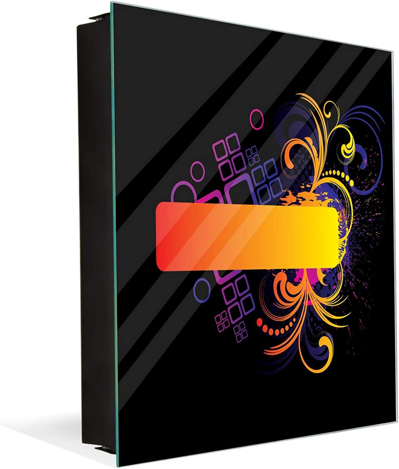 50 Keys Cabinet and Dry Erase Board in ONE K01 colorful Grunge