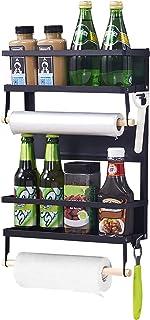 XIAPIA Etagère Réfrigérateur-Supports pour Papier Essuie-Tout Distributeur Pimenter Etagere magnetique frigo avec Porte Pe...