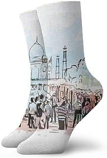 BEDKKJY, Calcetines Finos India Taj Mahal Calcetines de Accesorios Deportivos Especiales para Mujeres Liquidación de Calcetines para niños