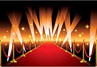 CSFOTO 6x4ft Red Carpet Photography Backdrop for Wedding Party Hollywood Award Ceremony Decor Movie Premiere Decor Filmfest Background Glitter Flashlight Adults Kids Portrait Photo Studio Props