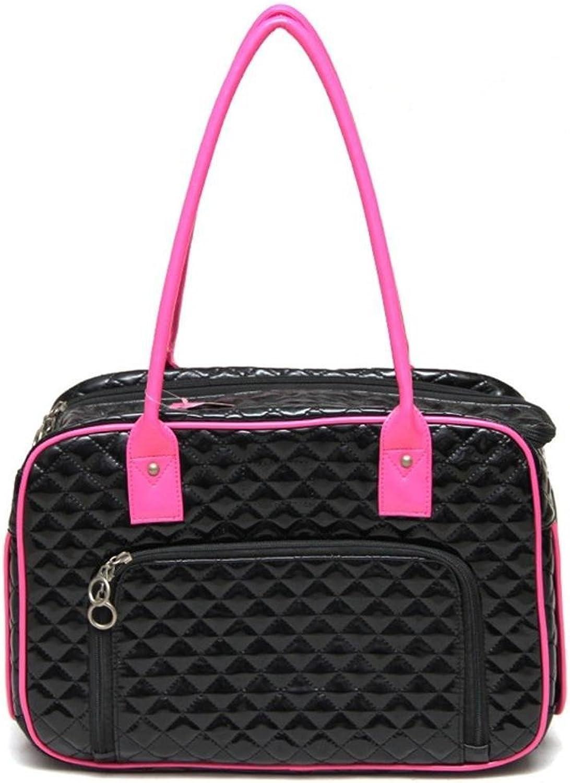 Aoligei Patent Leather Folding Backpack Portable Dog Bag cat cage, 40cm27cm17.5cm