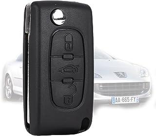 3 Botones Carcasa de mando Key Llave Coche para Peugeot 407/407 SW