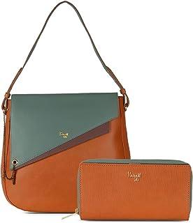 Baggit Faux Leather Women's Burnt Orange Cb Awry Handbag with Wallet