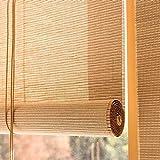 Yuanoo Persianas de Bambú de, Roll Roll Upas Natural Bamboo Privacidad Sun-Filtering Roller Shades de Madera Cortina Apagón para Exteriores/Jardín/Patio/Balcón/Galería (60X120Cm / 24