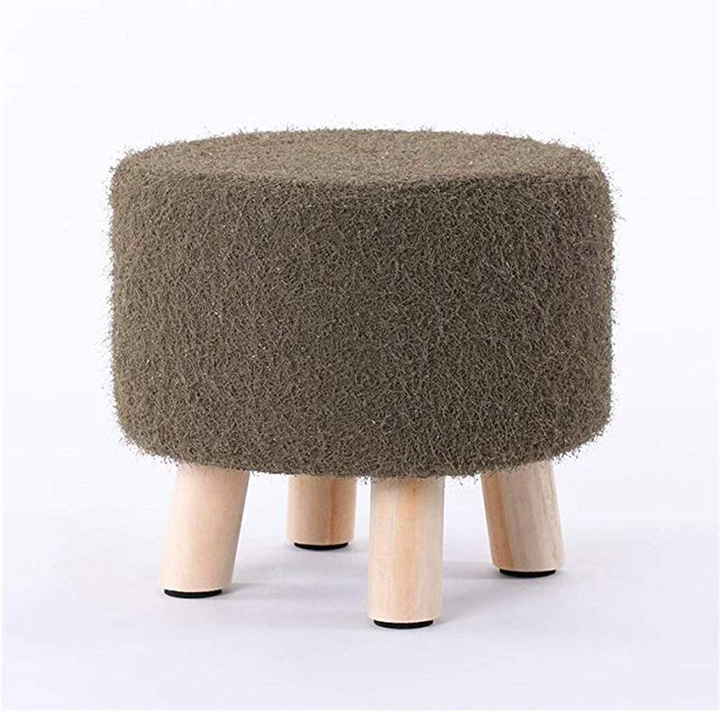 Carl Artbay Wooden Footstool Gray Green 4legged Stool Wood Small Bench Creative Stool Removable And Washable Stool Home