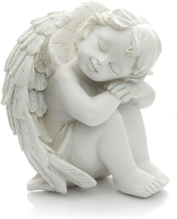 statuetta decorativa con angelo cherubino bianco piquaboo b07tln15w1