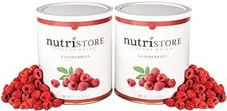 Nutristore Freeze Dried Raspberries by Amazing Taste | Healthy Snack | Survival Food