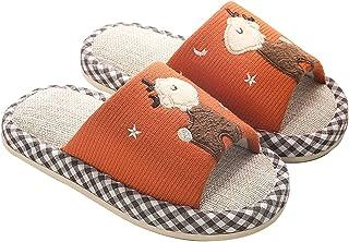HOUFT Zapatillas de Punta Abierta algodón y Lino Espuma para niños niños Zapatillas sin Patines Soles algodón Ropa Interio...