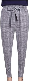 [エンジェルムーン] カプリパンツ レディース サブリナパンツ アンクルパンツ チェック柄 リボン きれいめ くるぶし丈