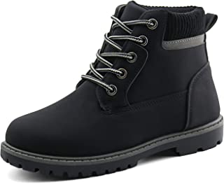 Sponsored Ad - JABASIC Kids Ankle Boots Boys Girls Lace-Up Outdoor Comfort Work Boots