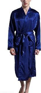 Men's Satin Kimono Robe Spa Bathrobes Loungewear Sleepwear Long Bathrobe Lightweight Silk Nightwear