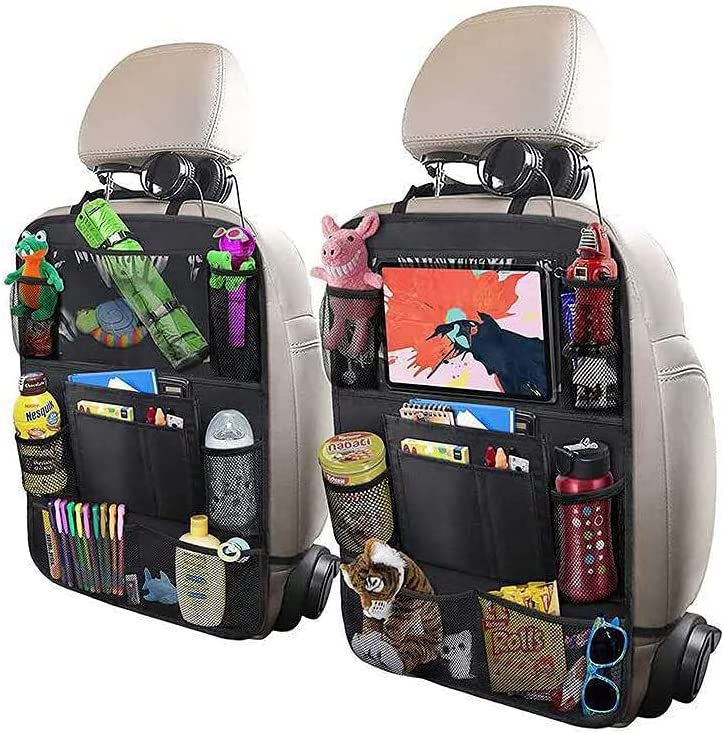 Car Backseat Organizers Ipad Car Back Seat Organizer Accessories Back Seat Backseat For Snacks Toys Travel ,Kids Car Organizer Backseat Travel Accessories 10 Storage Bags With Large Capacity 1Pack