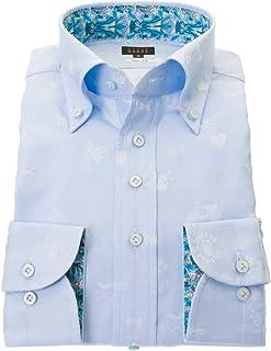 ドレスシャツ ワイシャツ カッターシャツ シャツ STYLE WORKS(スタイルワークス 長袖 綿:100% ボタンダウ ボタンダウン メンズ 柄シャツ 派手シャツ|RWD114-151