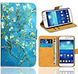 Samsung Galaxy Grand Neo Plus Funda, FoneExpert® Wallet Flip Billetera Carcasa Caso Cover Case Funda de Cuero Para Samsung Galaxy Grand Neo Plus i9060 / Galaxy Grand Neo (Pattern 8)
