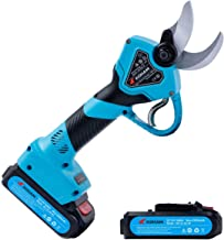 KOHAM Professional Cordless Electric Pruning Shears with 2 Pack Backup Rechargeable 2Ah..