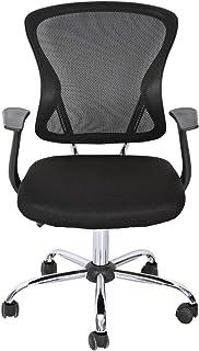 AFT 8022 Secretary Chair with Wheels - Black