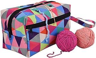 Sac à Tricoter Léger Portable Couleur Oxford Chandail Aiguille Organisation Package pour crochets de tricot, accessoires p...