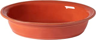 "Casafina Fontana Collection Stoneware Ceramic Oval Baker 13"", Paprika"