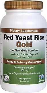 Red Yeast Rice Gold, Made with 600 mg Organic Red Yeast Rice - IP6 International - 120 Veg Cap