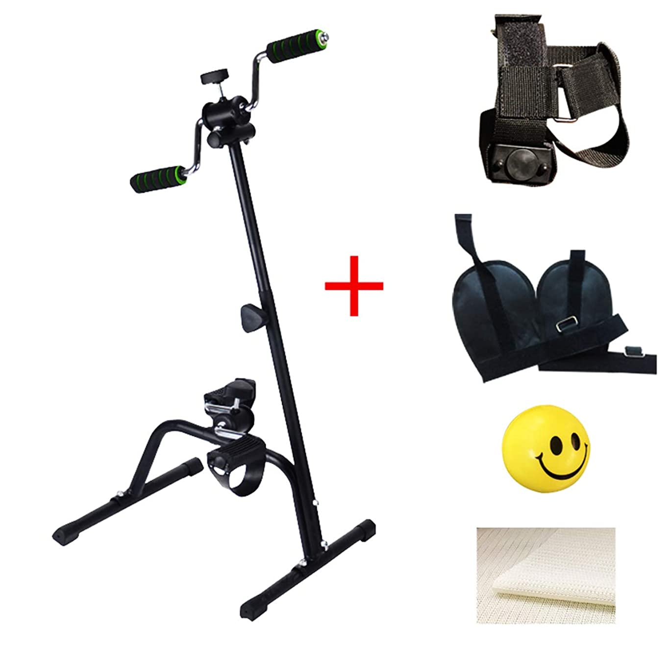 高齢者障害者リハビリテーション訓練ツール、上肢および下肢脳卒中片麻痺、ホームレッグアームペダルエクササイザー、自転車フィットネス機器のワークアウト,C