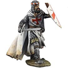 Ronin Miniatures Teutonic Order Knight Military Hand Painted Tin Metal 54mm Action Figures Toy Soldiers Size 1/32 Scale for Home Décor Accents Collectible Figurines ITEM #Or-12
