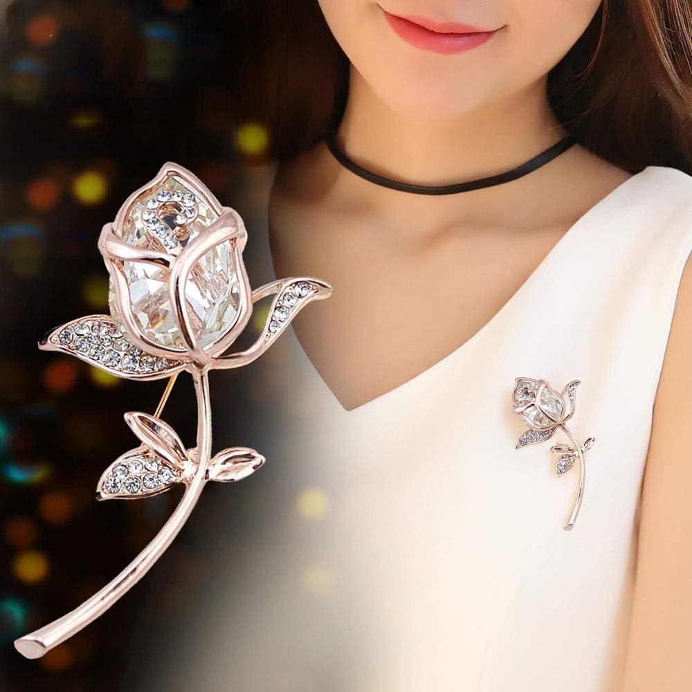 Huture Elegant Tulip Max 50% OFF Pin Brooches Bro for Women Crystal Cheap SALE Start Austrain