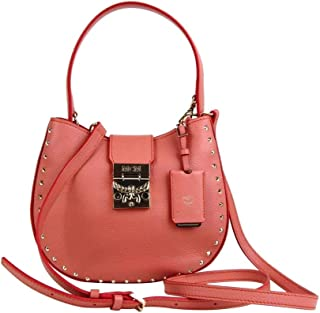MCM Women's Trisha Cocoa Pink Leather Studded Small Crossbody Bag MWH8APA48PW001