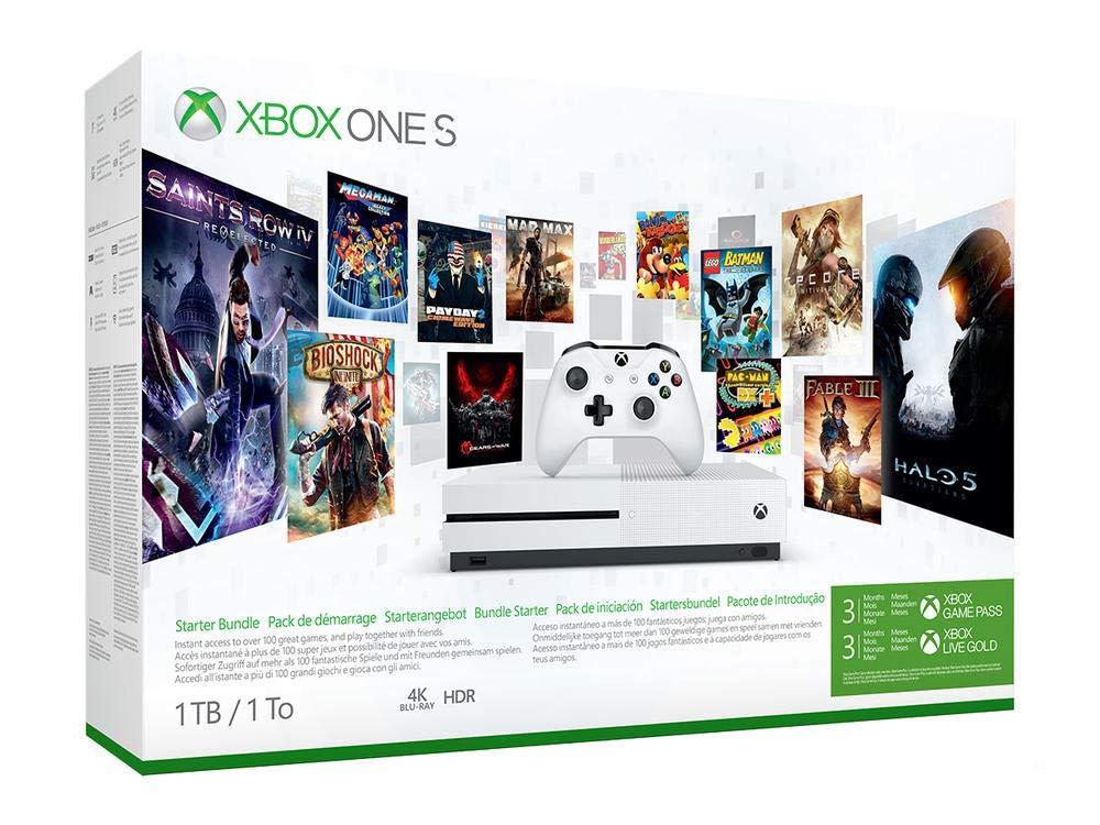 Microsoft Bundle Xbox One S (1TB) Starter Pack Blanco 1000 GB Wifi - Videoconsolas (Xbox One S, Blanco, 8192 MB, DDR3, AMD Jaguar, AMD Radeon): Amazon.es: Videojuegos