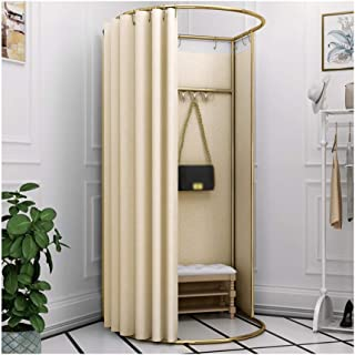 GDMING Clothing Store Moving Fitting Room Landing Track Display Stand Locker Room Door Curtain Kits With Metal Frame Shelf...