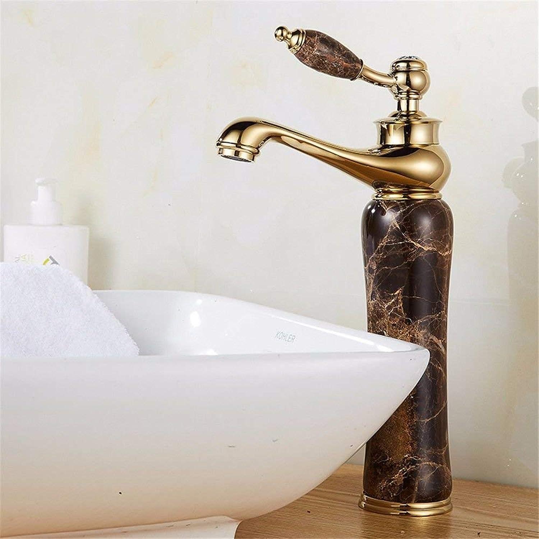 NANIH Home Waschbecken-Mischbatterie Badezimmer-Küchen-Becken-Hahn auslaufsicher Wasser speichern heier und kalter Messing-Schwenker