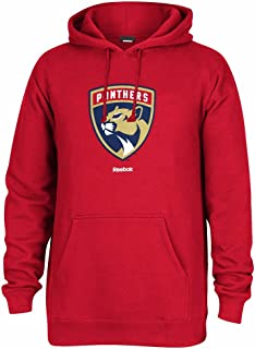 Reebok Florida Panthers NHL Red Team Logo Jersey Crest Pullover Hoodie