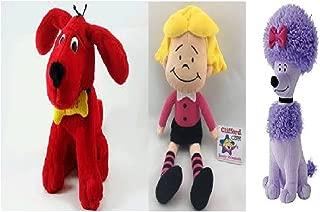 "Kohl's Cares Clifford the Big Red Dog Gang - Clifford 13"" Plush, Emily Elizabeth 10.5"" Doll, T-Bone 10"" Stuffed Dog and Cleo 11.5"" Soft Animal Toy Bundle – Set of 4"
