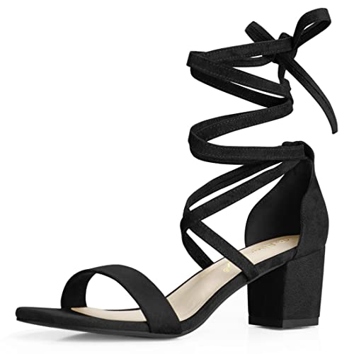 f3a37dcf73ef Allegra K Women s Lace Up Mid Heeled Sandals
