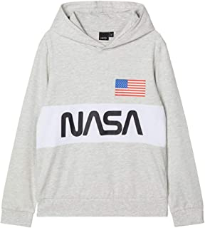 NAME IT Nlmnasa Lasso LS Sweat W Hood NAS Suéter para Niños