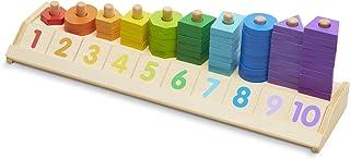 Melissa & Doug Counting Shape Stacker | Developmental Toy | Motor Skills | Problem Solving | 2+ | Gift for Boy or Girl