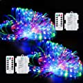 2 Pack LED Rope Lights,StillCool Remote Control 49ft 150 LED Battery Powered Multi-Color Fairy String Lights, 8 Lighting Modes with Timer Waterproof for Home Garden Wedding Party Christmas Decoration