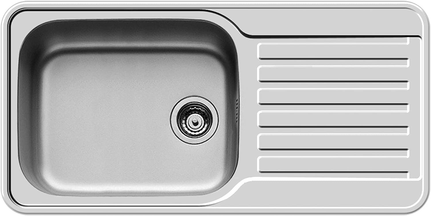 Pyramis SPACE MINI 1 1 2B 1D Built-In Sink Polished Stainless Steel, 108738812