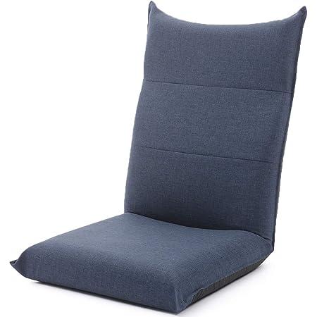 【Amazon限定ブランド】JUKA ジュカ 日本製 座椅子 ハイバック コンパクト リクライニング ダリアンインディゴブルー A1116r-626DBL