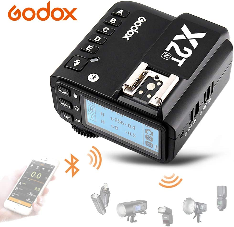 Godox X2T-S TTL Wireless Flash Trigger with Bluetooth Connection for Sony 2.4G HSS 1//8000s,TCM Function,5 Separate Group Buttons /&Quick Lock Hot-Shoe /& LCD Display
