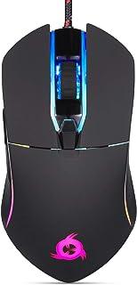 KLIM™ Aim - Ratón Gaming con Cable + Diseñado para Todos los Tamaños de Manos + Ratón Gamer RGB Personalizable, Programabl...