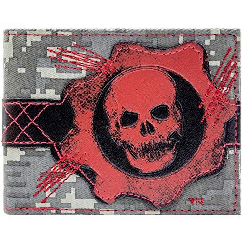 Microsoft Gears of War COG Schädel Rot Portemonnaie Geldbörse