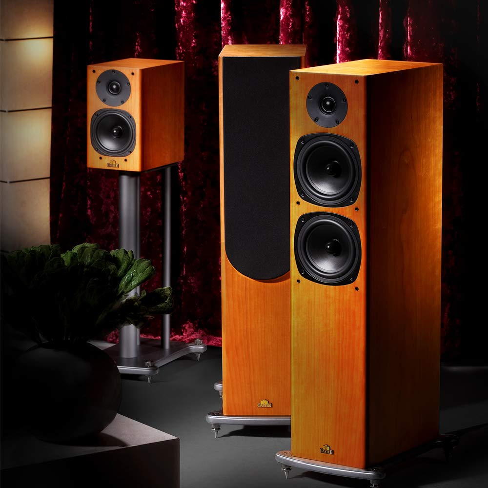 Castle Knight-4 Floorstanding Speaker Walnut (Pair): Amazon.es: Electrónica