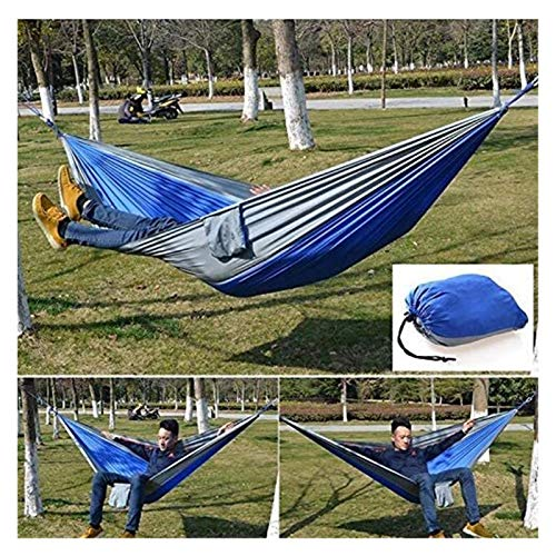 WERTYG Camping Double Hammock, Parachute Cloth Lightweight Nylon Portable Hammock Swing Chair for Garden Yard Camping Tent(Size:260 X 140cm) (Color : 003, Size : 260 X 140cm)